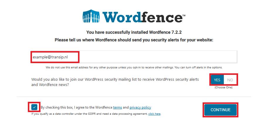 wordfence alerts