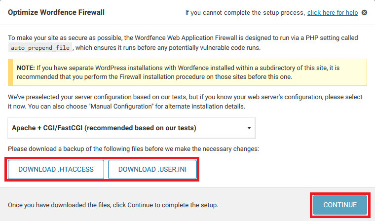 wordfence optimize firewall