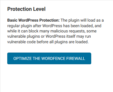 wordpress wordfence protection level